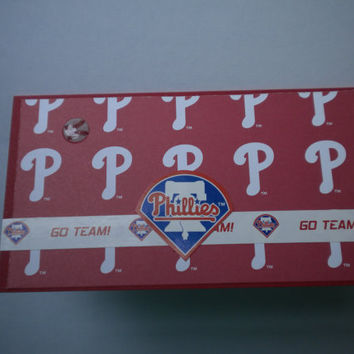 Philadelphia Phillies checkbook cover by lilaccottagecards on Etsy