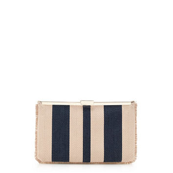 J.Crew Womens Woven Striped Clutch