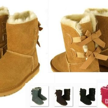 2017 Christmas NEW UGG Australia classic tall winter boots real leather Bailey Bowknot women's bailey bow snow boots shoes boot