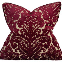 Barclay Butera, Jewel 22x22 Pillow, Raspberry, Decorative Pillows