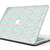 Tropical Twist Flamingos v7 - MacBook Pro with Retina Display Full-Coverage Skin Kit