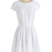 Kensie Mid-length Cap Sleeves A-line Spinning into Spring Dress