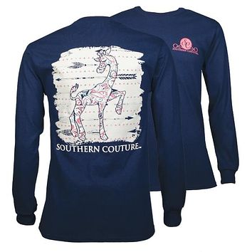 Southern Couture Preppy Paisley Giraffe Arrows Long Sleeve T-Shirt
