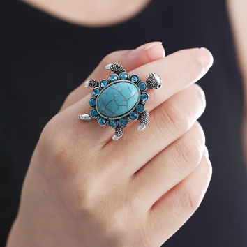 Turtle Bay Ring Conversational Piece Of Jewelry