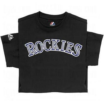 Colorado Rockies (YOUTH MEDIUM) 100% Cotton Crewneck MLB Officially Licensed Majestic