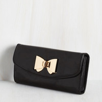 Film Noir Glossed and Found Wallet in Ink by ModCloth