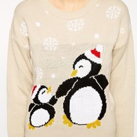 Club L Penguin Christmas Jumper