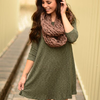 By The Fireside Dress- Olive