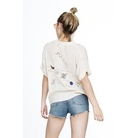 Galaxy Button Up Top