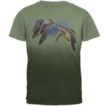 CREYCY8 Sea Turtles Under Water Adult T-Shirt