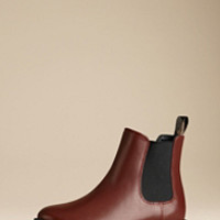 Leather Chelsea Rain Boots