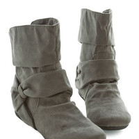 ModCloth Agent Ninety-Fine Boot in Grey