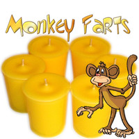 6 Monkey Farts Votive Candles Banana and Citrus Scent