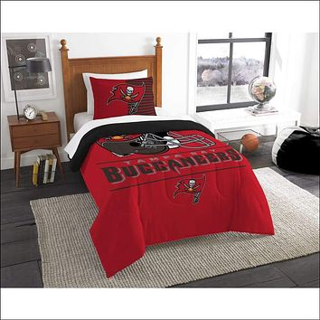 """Bucs OFFICIAL National Football League, Bedding, """"""""Draft"""""""" Printed Twin Comforter (64""""""""x 86"""""""") & 1 Sham (24""""""""x 30"""""""") Set  by The Northwest Company"""