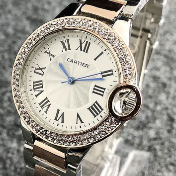 Cartier Woman Men Fashion Quartz Classic Wristwatch Watch