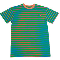 RAINBOW GOLF STRIPED SHORT SLEEVE GREEN/BLUE/PEACH
