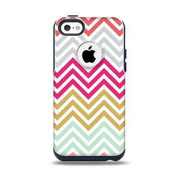 The Three-Bar Color Chevron Pattern Apple iPhone 5c Otterbox Commuter Case Skin Set