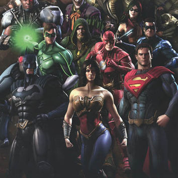 Injustice Gods Among Us Video Game Cast Poster 22x34
