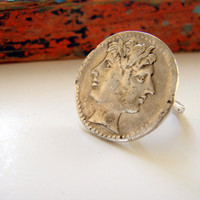 Ancient Roman Janus Ring Sterling Silver by Nafsika on Etsy