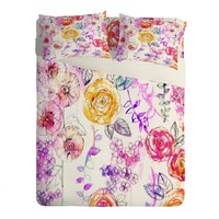 Holly Sharpe Pastel Rose Garden Sheet Set Lightweight