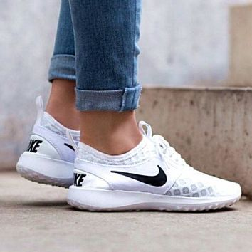 """Nike"" Fashion Nike Juvenate  Women Men Sport Shoes Casual Sneakers honeycomb White"