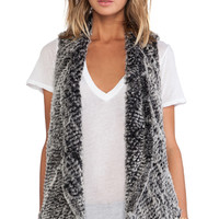 ELLIATT Sandstorm Rabbit Fur Vest in Gray