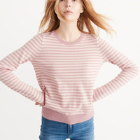 Womens Striped Crew Sweater | Womens Tops | Abercrombie.com