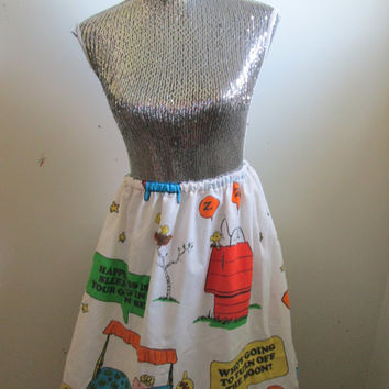 Vintage Charlie Brown Peanuts Gang Skirt