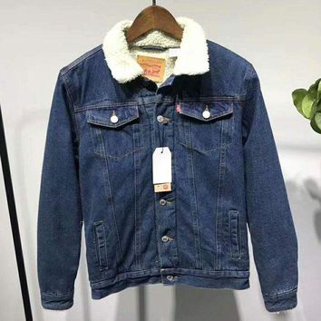 DCCKN6V LEVI'S Women Men Button Denim Jacket Sweater Coat  G-ZDL-STPFYF