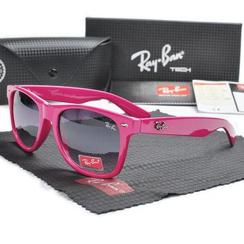 Ray Ban RB2140 Pink Frame Purple Lens Sunglasses