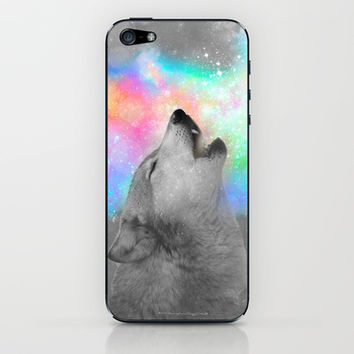 Breathing Dreams Like Air (Wolf Howl Abstract II: Grey) iPhone & iPod Skin by soaring anchor designs ⚓ | Society6