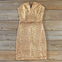 Golden Hearts Party Dress