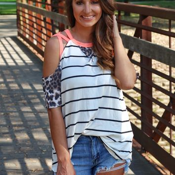 Kiss Tomorrow Goodbye Cold Shoulder Top