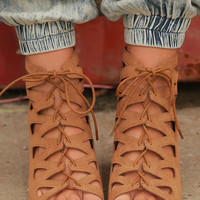 Free Your Soul Sandals: Tan