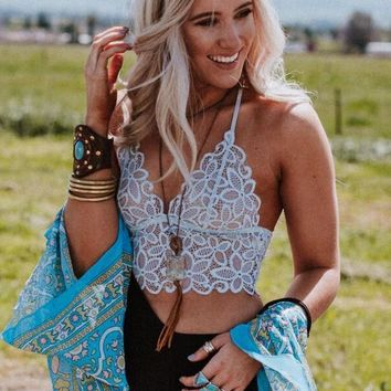 Eye Of The Sun Bralette - Gray Blue