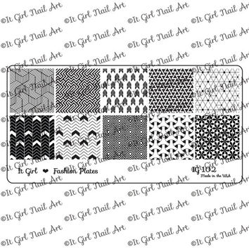 PRE-SALE IG102 Nail Art Stamping Plate