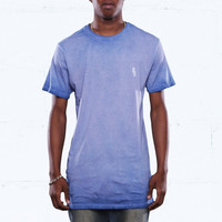 French Blue Antique Wash Long Line Tee