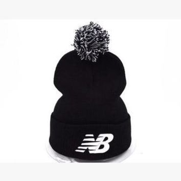 new balance women men embroidery knit hat beanie cap hat