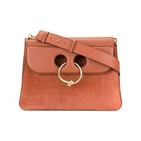 JW Anderson Pierce Large Leather and Suede Bag
