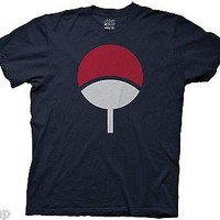 NARUTO SASUKE UCHIHA SYMBOL  Adult Men T-Shirt S-2XL Navy
