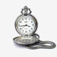 Vintage pocket watch Quartz CS steampunk pocket watch motorcycle pocket watch old pocket watch collectible pocket watch mechanical watch