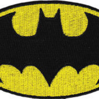 DC Comics Embroidered Iron On Movie Patch Applique - Batman Logo DC08