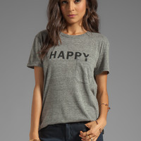 TEXTILE Elizabeth and James Happy Bowery Tee in Heather/Black from REVOLVEclothing.com
