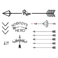 Arrow Set - Temporary Tattoo (Set of 7)