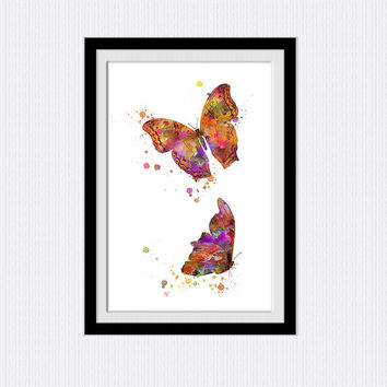 Butterfly print Butterfly poster Butterfly watercolor decor Butterfly wall art Home decoration Living room decor Kids room art poster W547