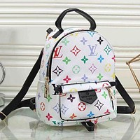 Louis Vuitton LV Louis Vuitton tide brand fashion leather travel bag shoulder bag F White