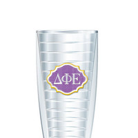 Delta Phi Epsilon Tumbler -- Customize with your monogram or name!