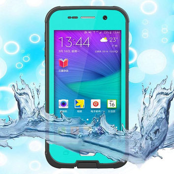 For Samsung S6 Redpepper Durable IP68 Waterproof Cases Shock\ Dirt \Snow Proof Cover Case For Samsung Galaxy S6 With Stand