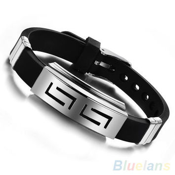 Stainless Steel Wristband Clasp Cuff