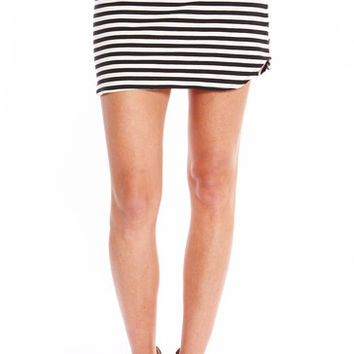 STRIPED MINI SKIRT | PUBLIK | Women's Clothing & Accessories
